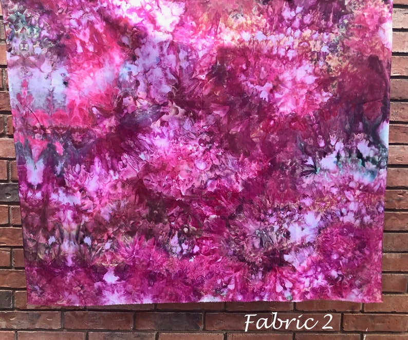 Hand Dyed Cotton Fabric  Bohemian Fabric  Hand Dyed Fabric  Tie Dye