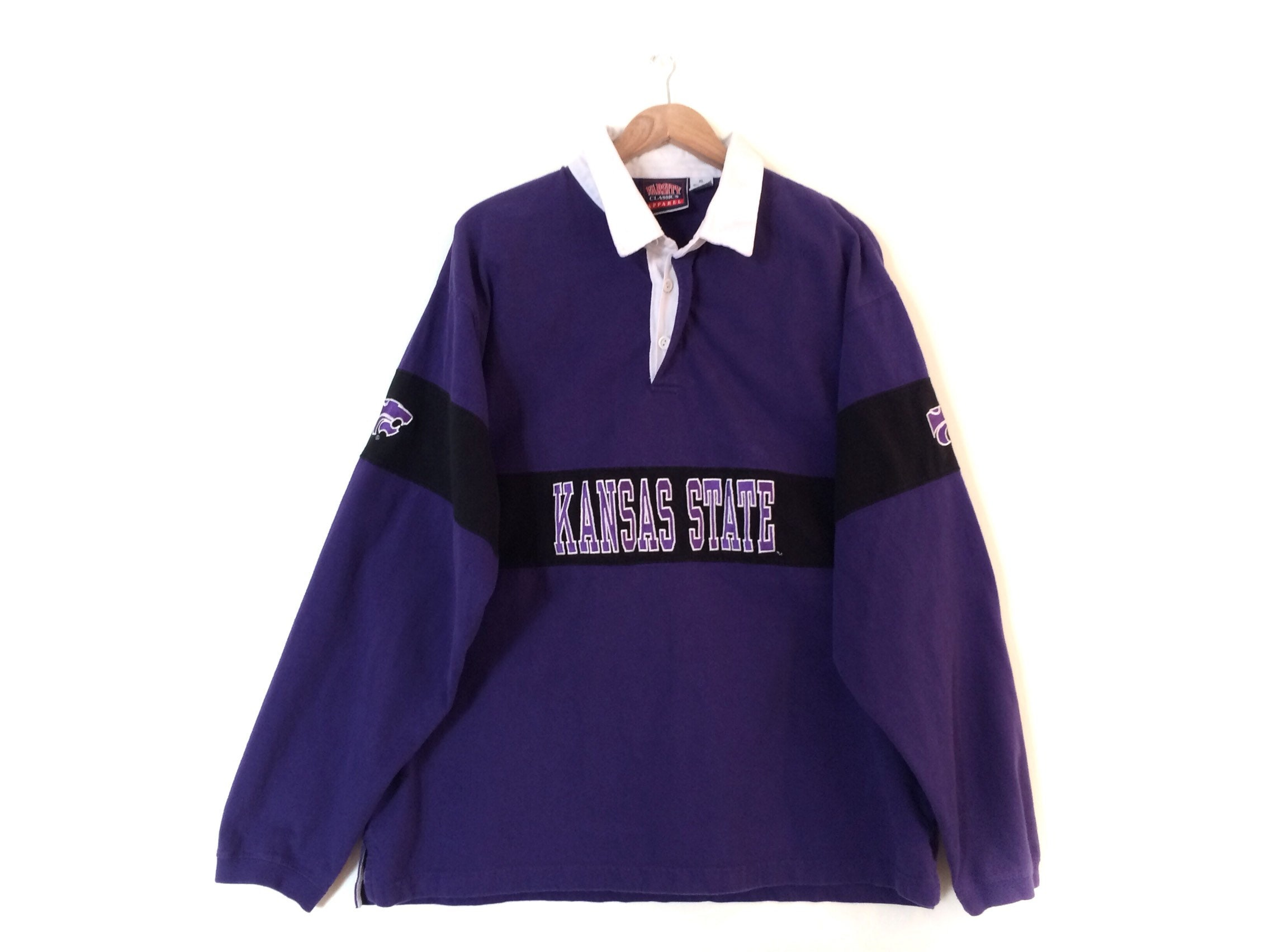 Vintage K State Rugby Polo Shirt Retro Kansas State Rugby Etsy