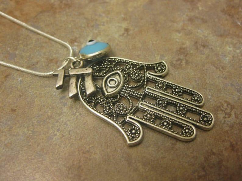 chai jewelry chai necklace hamsa jewelry hamsa hand necklace hamsa hamsa pendant Jewish jewelry hamsa necklace Jewish necklace
