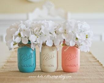 Teal coral wedding | Etsy