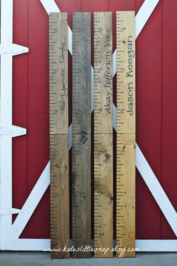 Giant Ruler Giant Wooden Growth Chart Hand Painted Growth Etsy