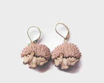 Hedgehoge Button Earrings