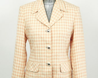 Vintage Pink Plaid 50's Coat