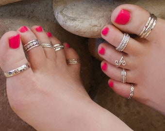 Toe Rings - Midi Rings - Minimalist Ring - Simple Ring - Select One Style - Assorted Prices - Gold Rose Silver Toe Rings - Dainty Ring
