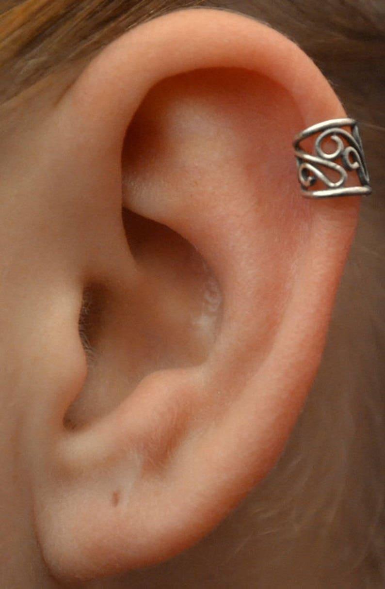 Pierced Ear Cuff Helix Piercing Cartilage Earring Also Available In Non Pierced Ear Cuff Earcuff Ear Wrap Ear Cuffs Helix Cuff