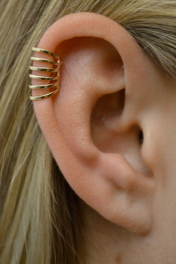 Six Wire Ear Cuff Helix Cuff No Piercing Cartilage Cuff Etsy