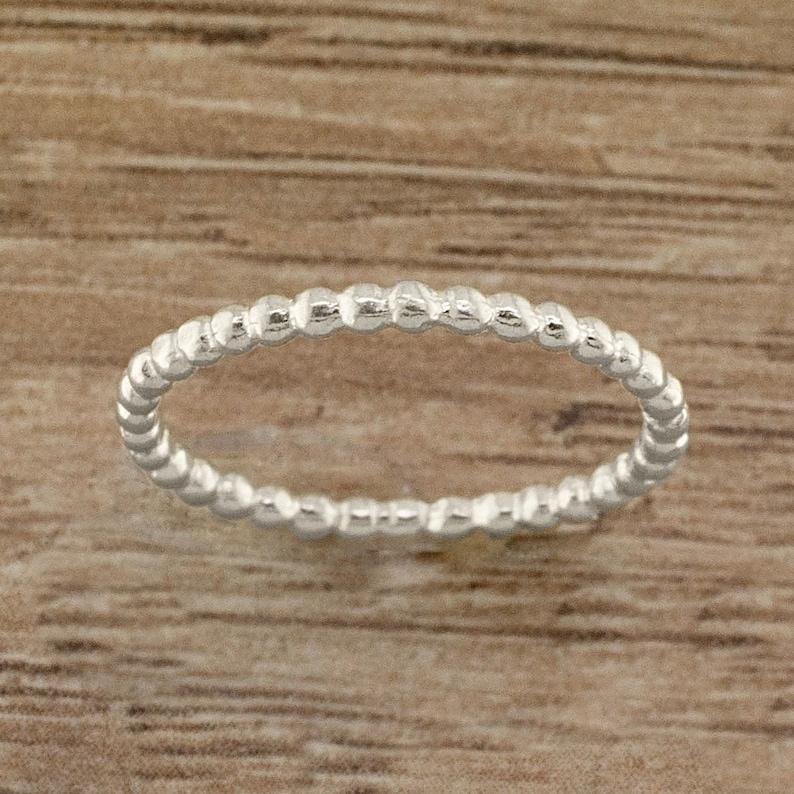 Midi Ring Elastic Beaded Ring Custom Elastic Bead Ring with Metal Star Toe Ring Knuckle Rings Knuckle Midi Toe Stacking Stackable Rings