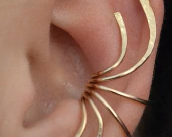 Curve Spray - Ear Wrap - Ear Cuff -  Ear Climber - Ear Crawler - silver ear Climber - gold ear climber - gold ear wrap - earcuff -