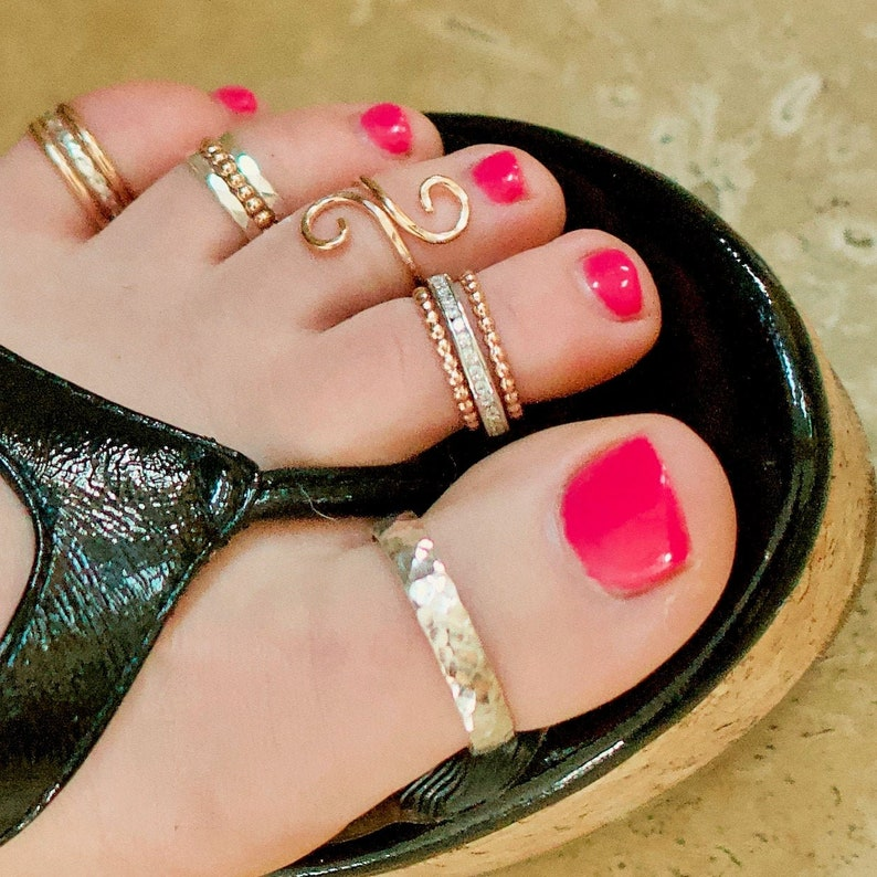 Sized Gold Toe Rings Pick One Style -Minimalist Ring Big Toe Ring Toering Toe Ring Toe Rings Dainty Ring Statement Ring