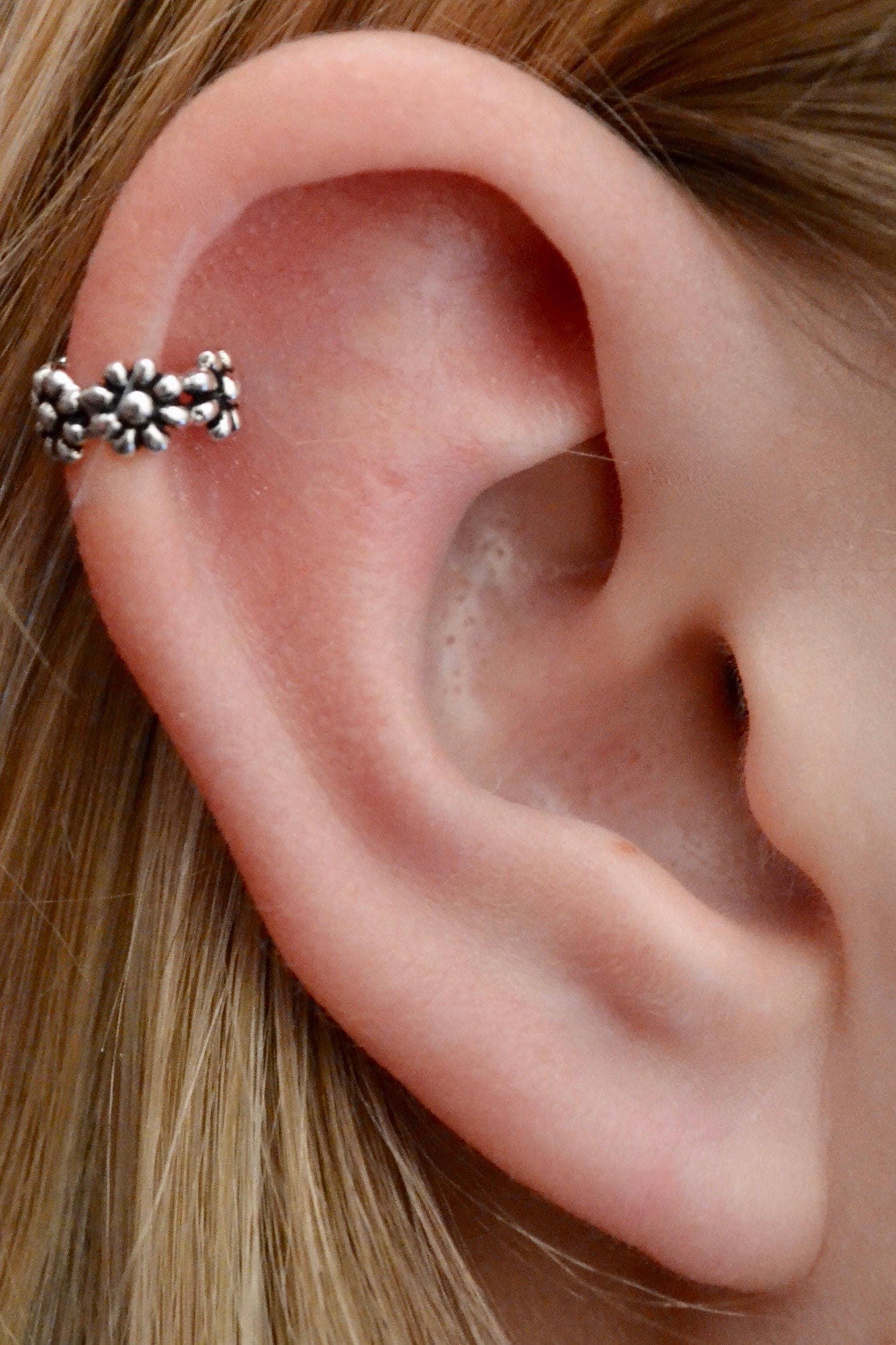 Helix Ear Cuff Daisy Ear Cuff Helix Earring Cartilage   Etsy