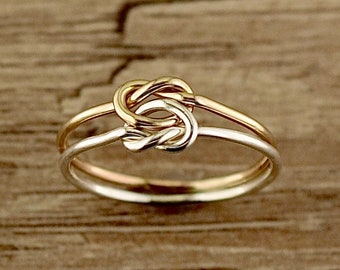 Toe Ring - Love Knot - Midi Rings - Silver Toe Ring - Minimalist Ring - Stacking Ring - Knuckle Ring - Sterling Toe rings - Gold Toe Ring -