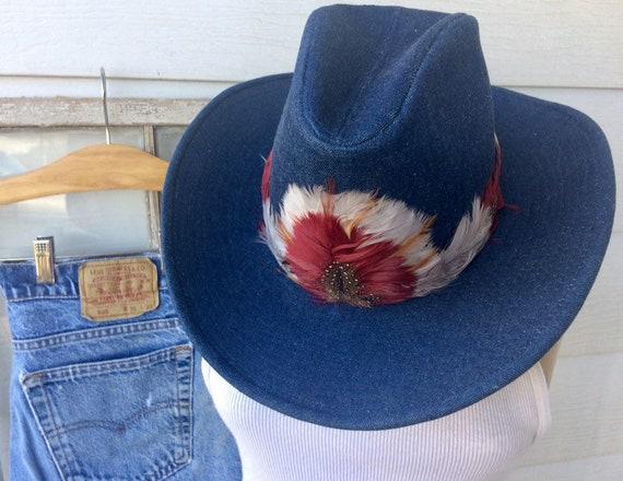 Vintage Cowboy Hat / Cowgirl Hat / Urban Cowboy St