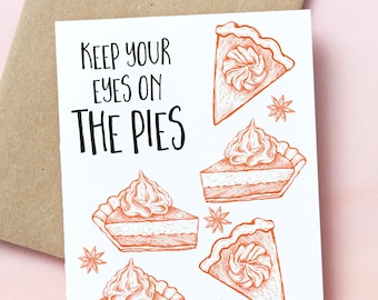 12121 : encourgement, thinking of you, just because, puns, pies, thanksgiving