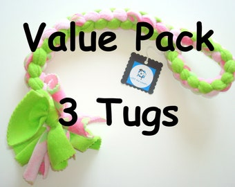 Value Pack of Large Tugs - 3 for the Price of 2 - Your Choice Boy or Girl Colors