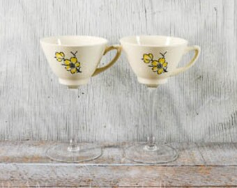 Unique wine glass, Tea cup wine glass, Teacup wine glass, couple gift, wedding gift
