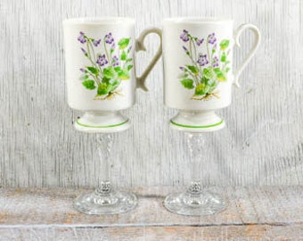 Teacup wine glass, tea cup wine glass, wedding gift, birthday gift, couple gift