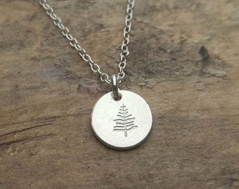 Evergreen Tree Necklace, Evergreen Charm, Evergreen Pendant, Christmas Tree, Christmas Charm, Christmas Necklace, Holiday Necklace Charm