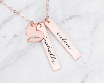 88b694ebc Custom Necklace • Names On Necklace • Family Jewelry • Kid Name Necklace