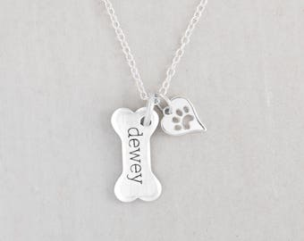 Dog jewelry etsy dog lover gift dog mom gift puppy necklace dog paw jewelry paw print charm dog jewelry mozeypictures Images
