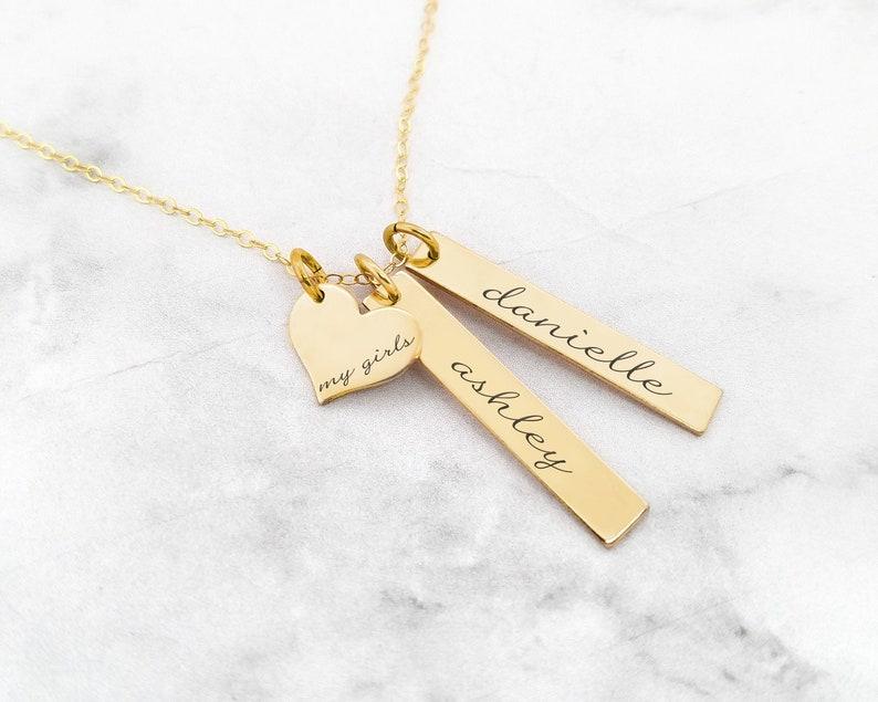 Personalized Necklace \u2022 My Girls Necklace \u2022 Mom Necklace \u2022 Kid Name Necklace \u2022 Family Jewelry \u2022 Girl Mom Necklace