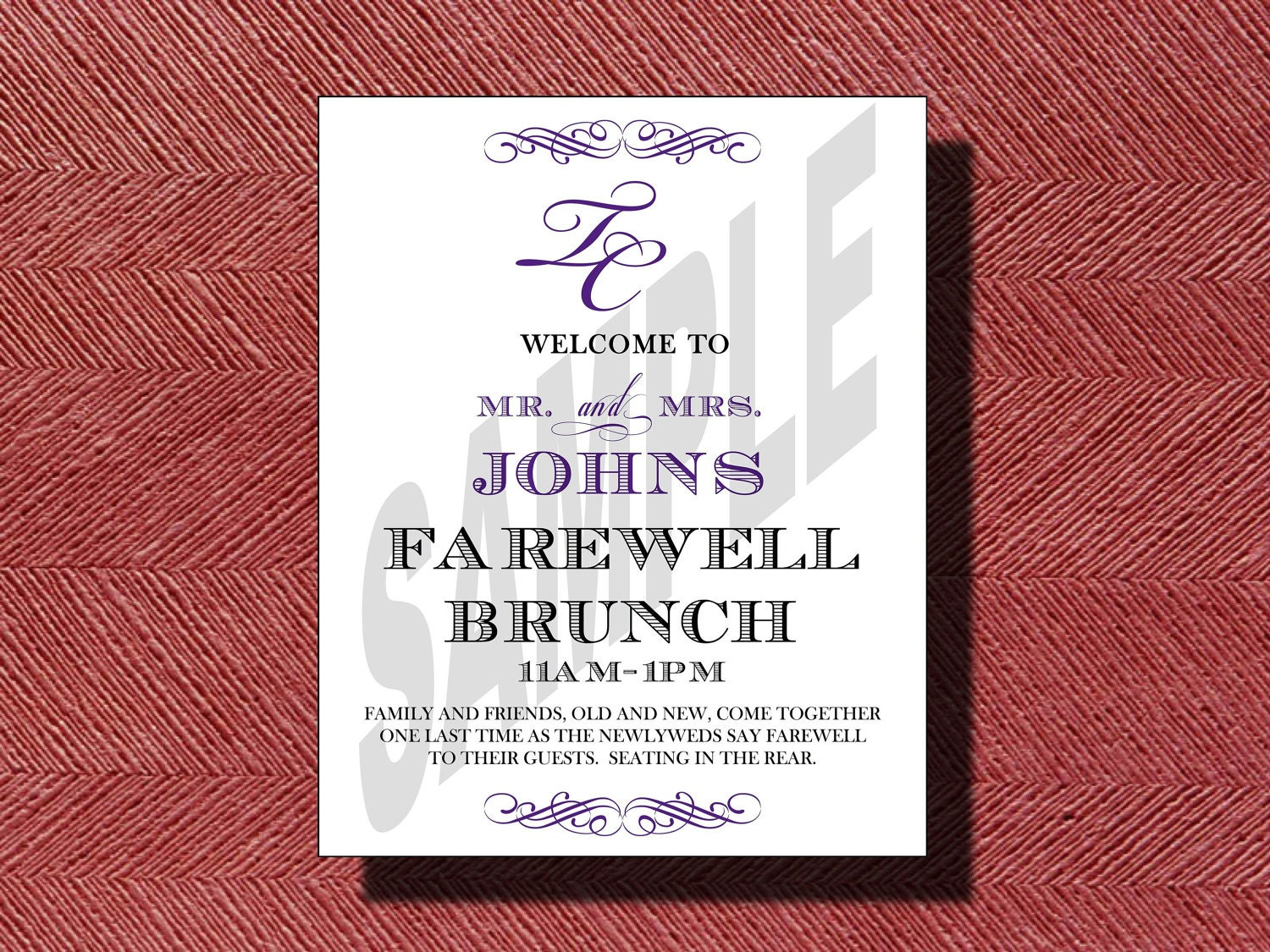 Wedding Farewell Brunch Invitation or Sign | Etsy