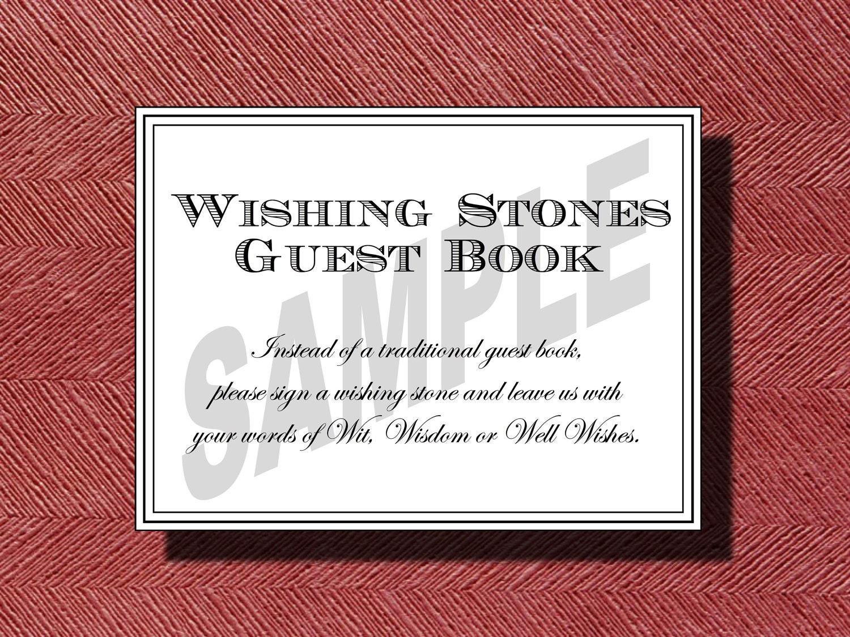 Wedding Wishing Stone Guest Book Sign Wishing Stones | Etsy