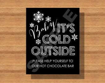 Tis the season to share the love winter wedding social media wedding baby its cold outside hot chocolate bar sign winter wedding decor solutioingenieria Gallery