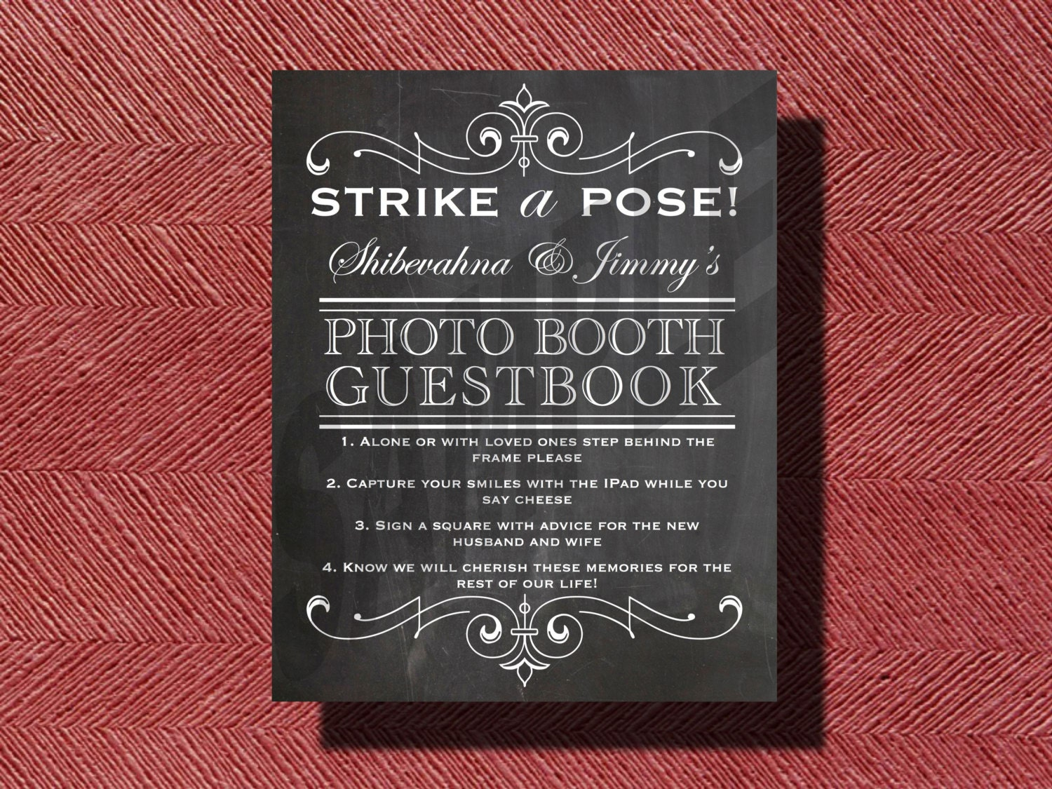 Chalkboard Wedding DIY Photo Booth Guestbook Sign | Etsy