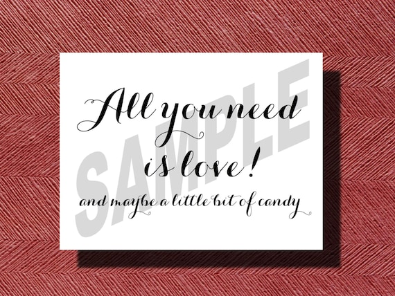 candy buffet schild druckbare hochzeit candy bar druckbare etsy. Black Bedroom Furniture Sets. Home Design Ideas