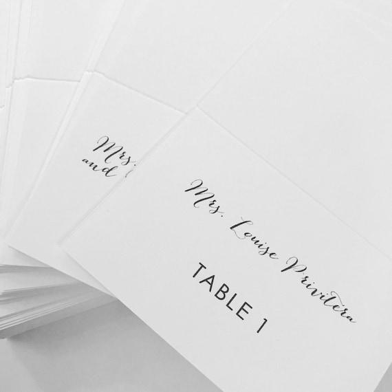 Hochzeitskarten Tischkarten Platzkarten Bi Fold Zelte Name Etsy