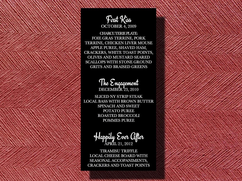 Wedding Reception Dinner Menu | Etsy