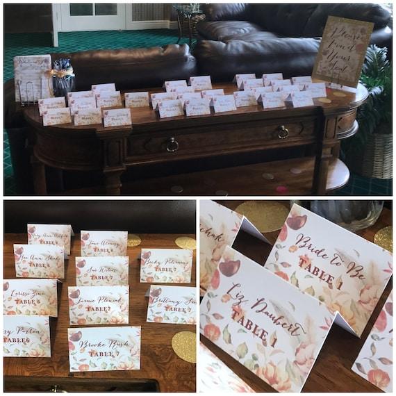 Herbst Blatter Hochzeitskarten Tischkarten Platzkarten Etsy