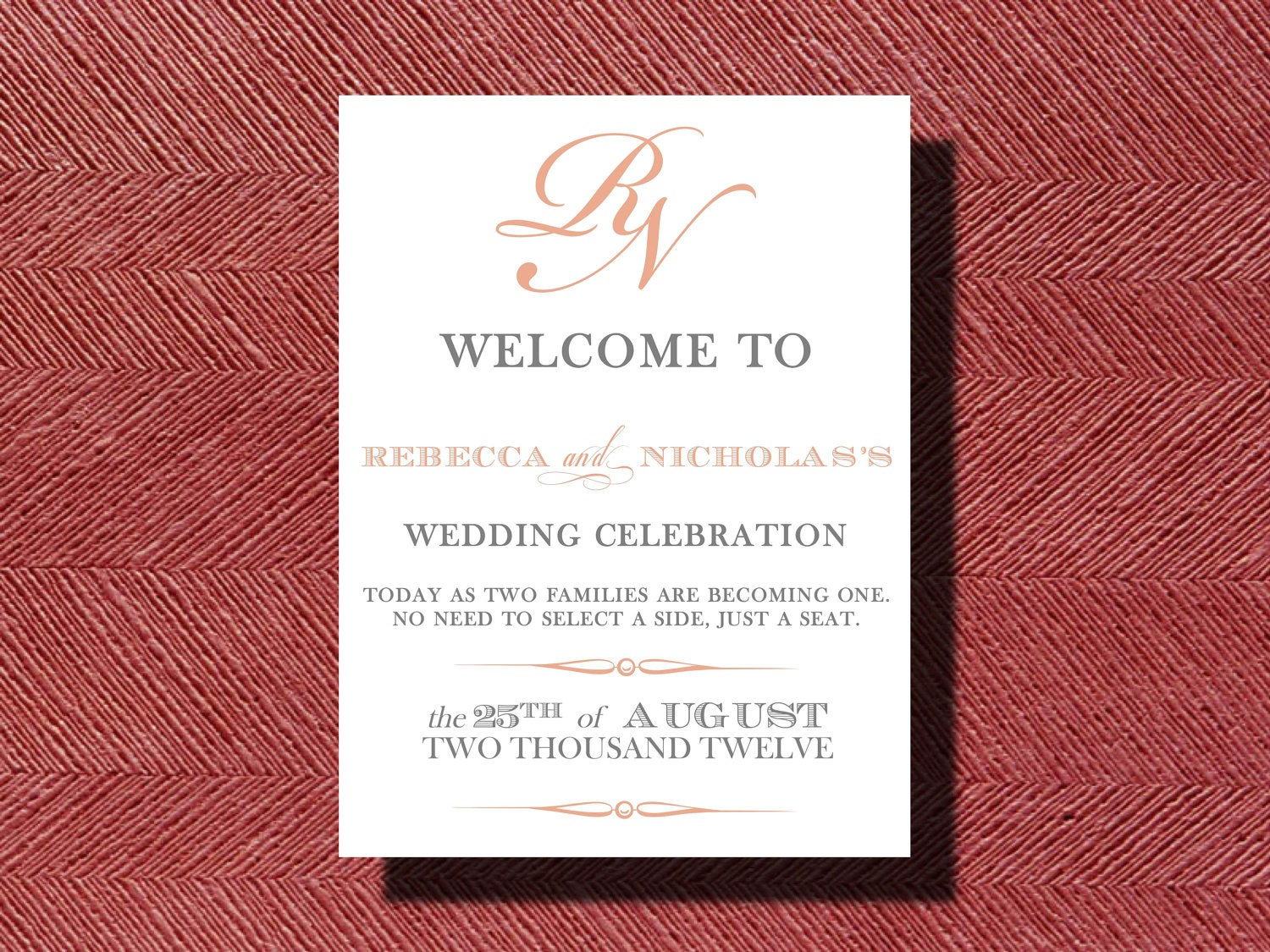 Wedding Welcome Sign or Poster