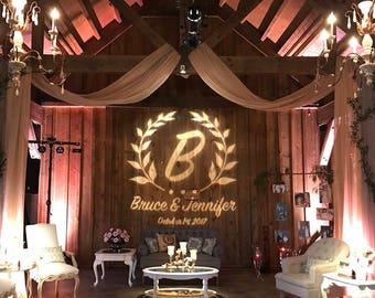 Rustic Designed Digital Wedding Monogram Design, Wedding Logo, Rustic Gobo, Digital Wedding Monogram Printable, Logo Design for your Event