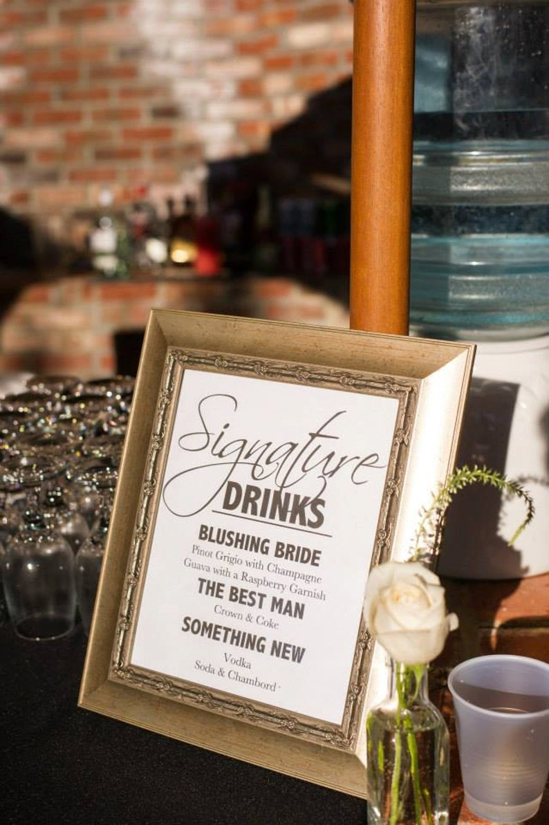 Wedding Signature Drinks.Wedding Signature Drink Sign Wedding Signature Cocktail Sign Signature Drink Sign For Your Wedding Or Special Event Printable Drink Sign