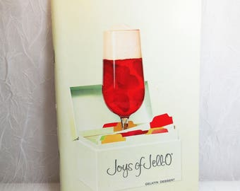 Joys of JELL-O, 1960's, 4th Edition, 1st printing, Vintage Cookbook - Jello Gelatin Dessert