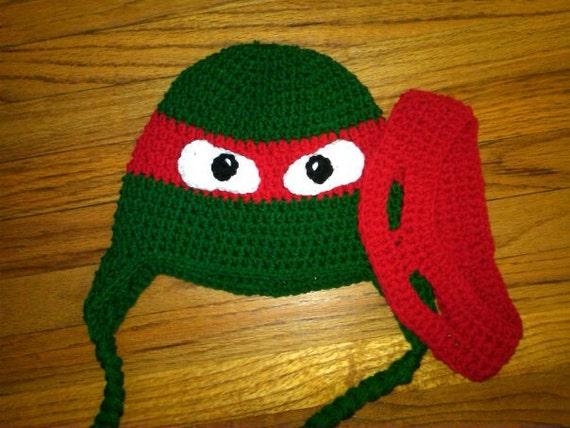 Häkeln Ninja Turtle Inspiriert Hut Mit Abnehmbare Verstellbare Etsy