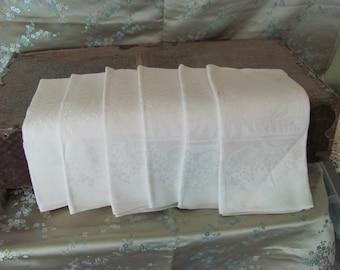 "Napkins Set of 6 Beautiful Damask Dinner Lapkins Napkins 21"" Large Size Dinner Party Cotton Linen Cloth"