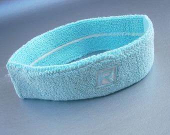 5654873ee2c9 Vintage Pastel Blue Green Sweat Band Headband Sports Activewear Wear  Sportswear Terry Cloth Tennis Basketball Aerobic Bike Exercise Cotton