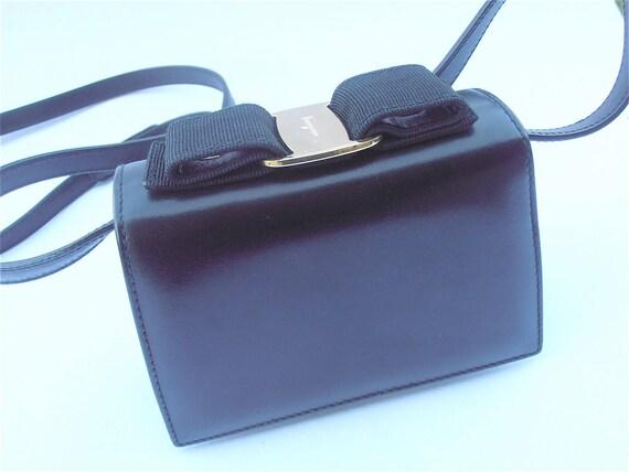 Vintage Ferragamo Bag Ferragamo Clutch Ferragamo Black Bag  92a955267c17a