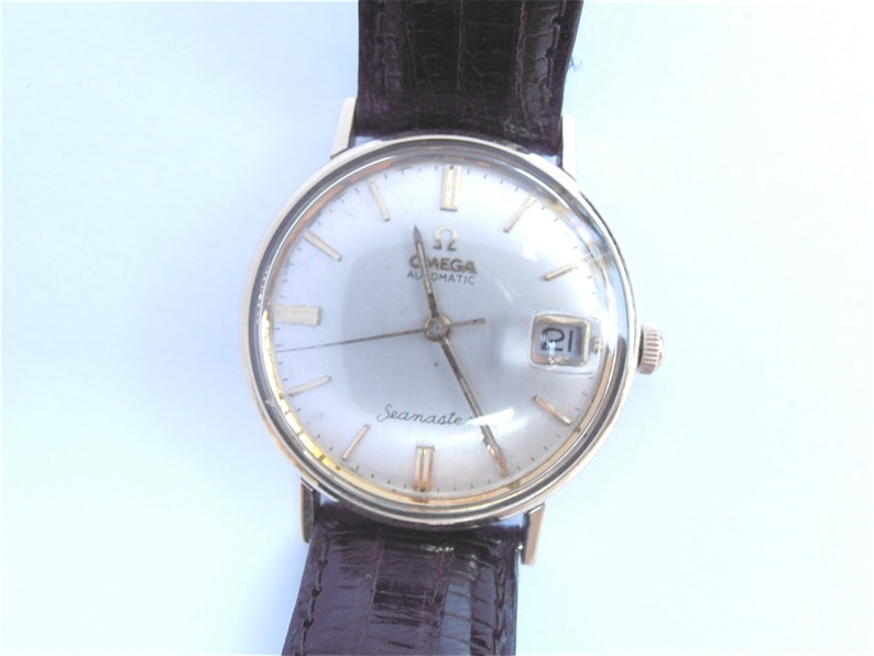 986ce75074340 Vintage 70s Omega Seamaster Automatic Date Mens Dress Watch