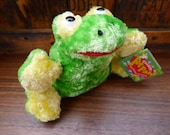 Vintage Plush Frog, Ribbit Sound, Talkin 39 Pet Pals