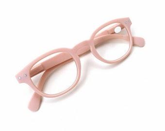Baby Blush Pink 2.00 Glasses, Full Lens Reading Eyeglasses, Spring Hinge Readers