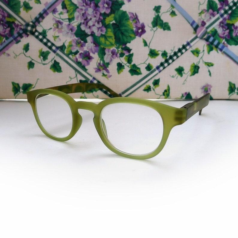 Camo Olive Green Eyeglasses Spring Hinge Full Lens Readers 4.00 Cheater Reading Glasses