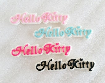 4pcs - Kitty Signature Decoden Cabochon (68x15mm) WRD010