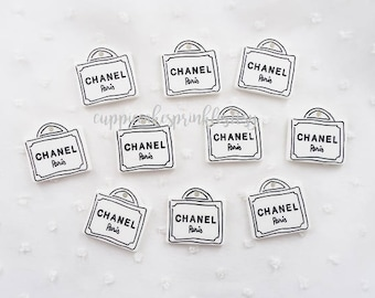 5pcs - Kitschy White Shopping Bags Decoden Cabochon (29x29mm) BEY017