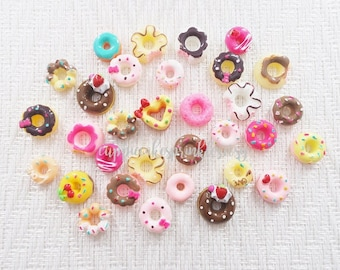 10pcs - Cute Doughnut Mix Decoden Cabochon (10-25mm) DNT013
