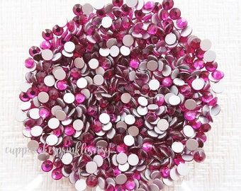 100pcs - 4mm Fuchsia 16ss High Quality Flatback Rhinestone RHH316