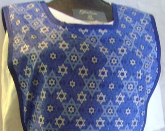 Cobbler Aprons with White and Blue Stars Size Medium  #108
