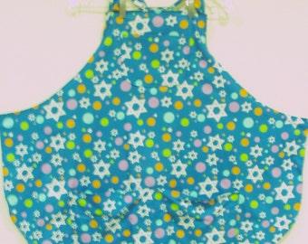 Bib Apron with Stars and Polka Dots  #206